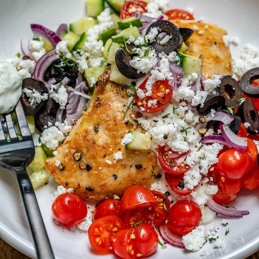 Greek Chicken With Tzatziki Sauce (Keto Recipe)-6