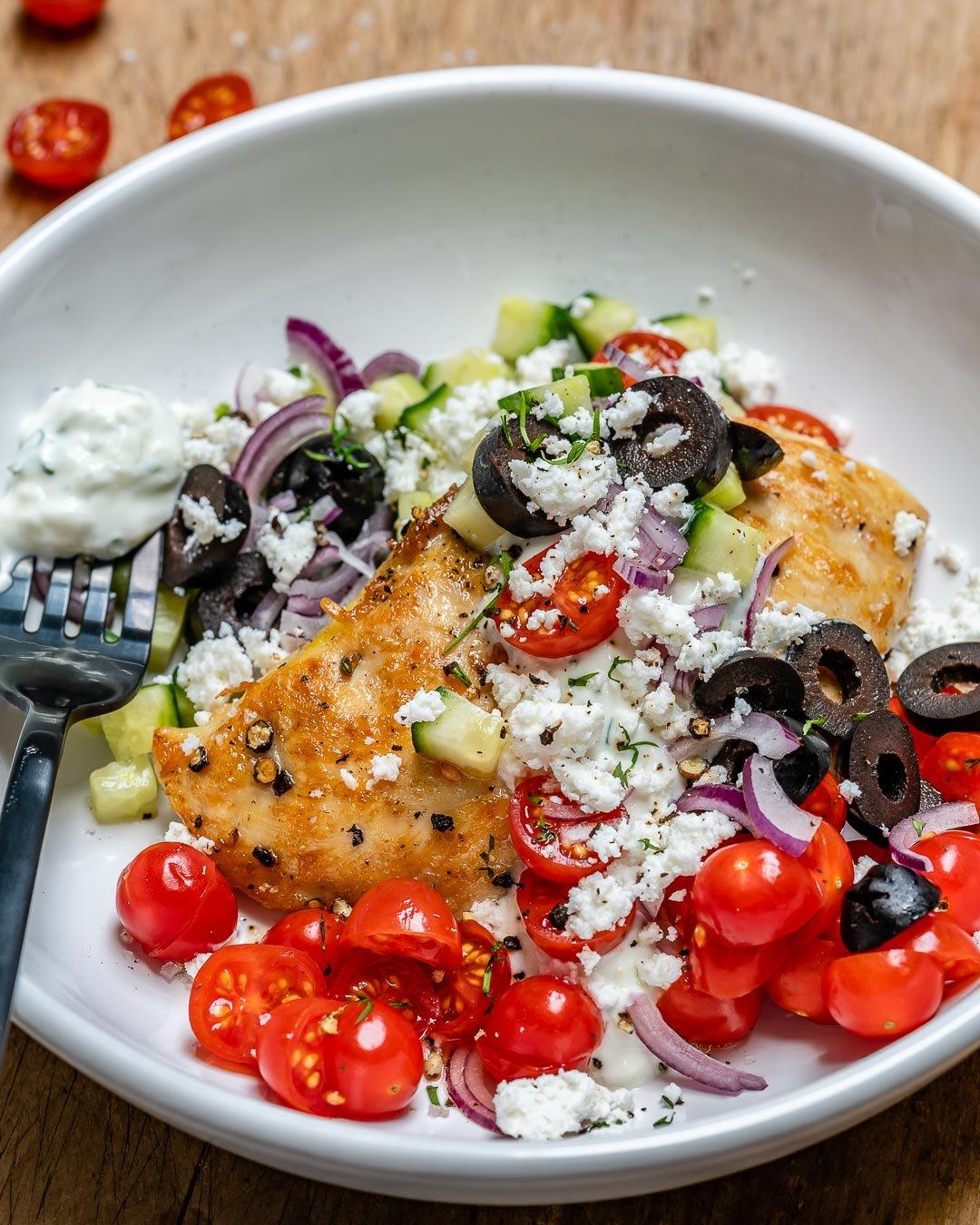Greek Chicken With Tzatziki Sauce (Keto Recipe)-8