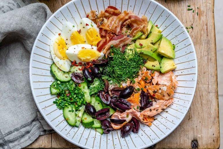 Seared Salmon Avocado Salad - Paleo / Whole30 / Keto Recipe 8