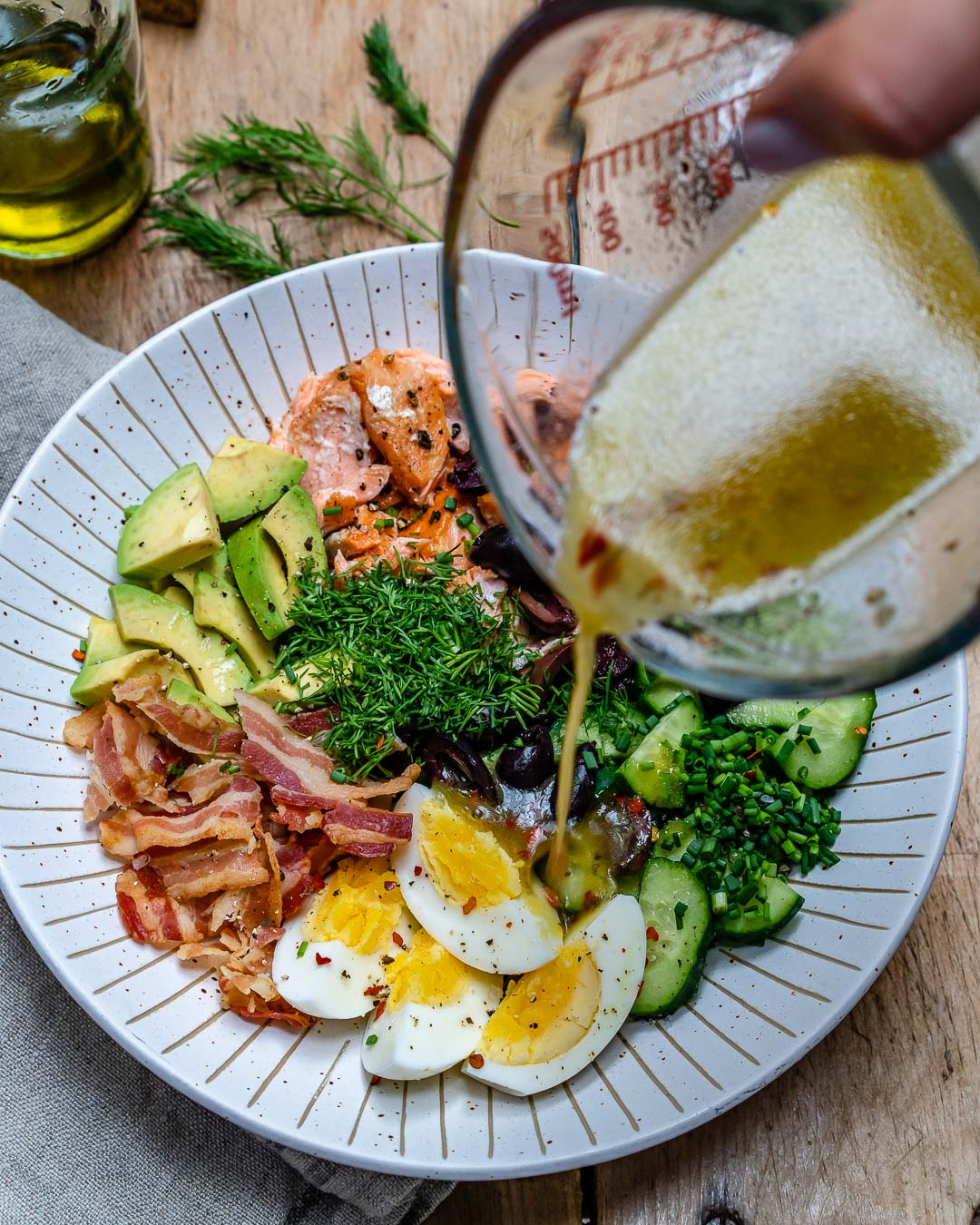 Seared Salmon Avocado Salad - Paleo / Whole30 / Keto Recipe