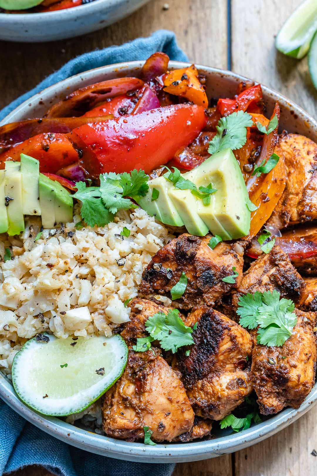 Chipotle Chicken Bowl With Cauliflower Rice (Paleo/Whole30 Recipe)-13