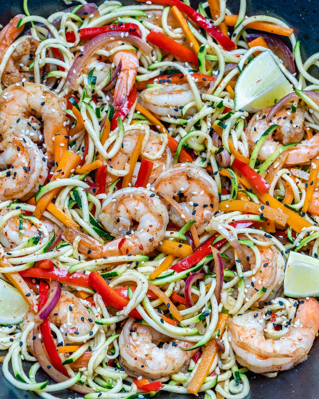 Garlic Shrimp And Zucchini Noodles - Whole30/Paleo Recipe 6