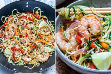 Garlic Shrimp And Zucchini Noodles Recipe