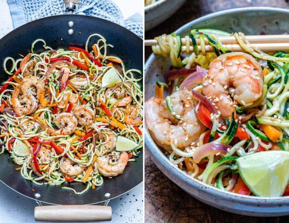 Garlic Shrimp And Zucchini Noodles Recipe