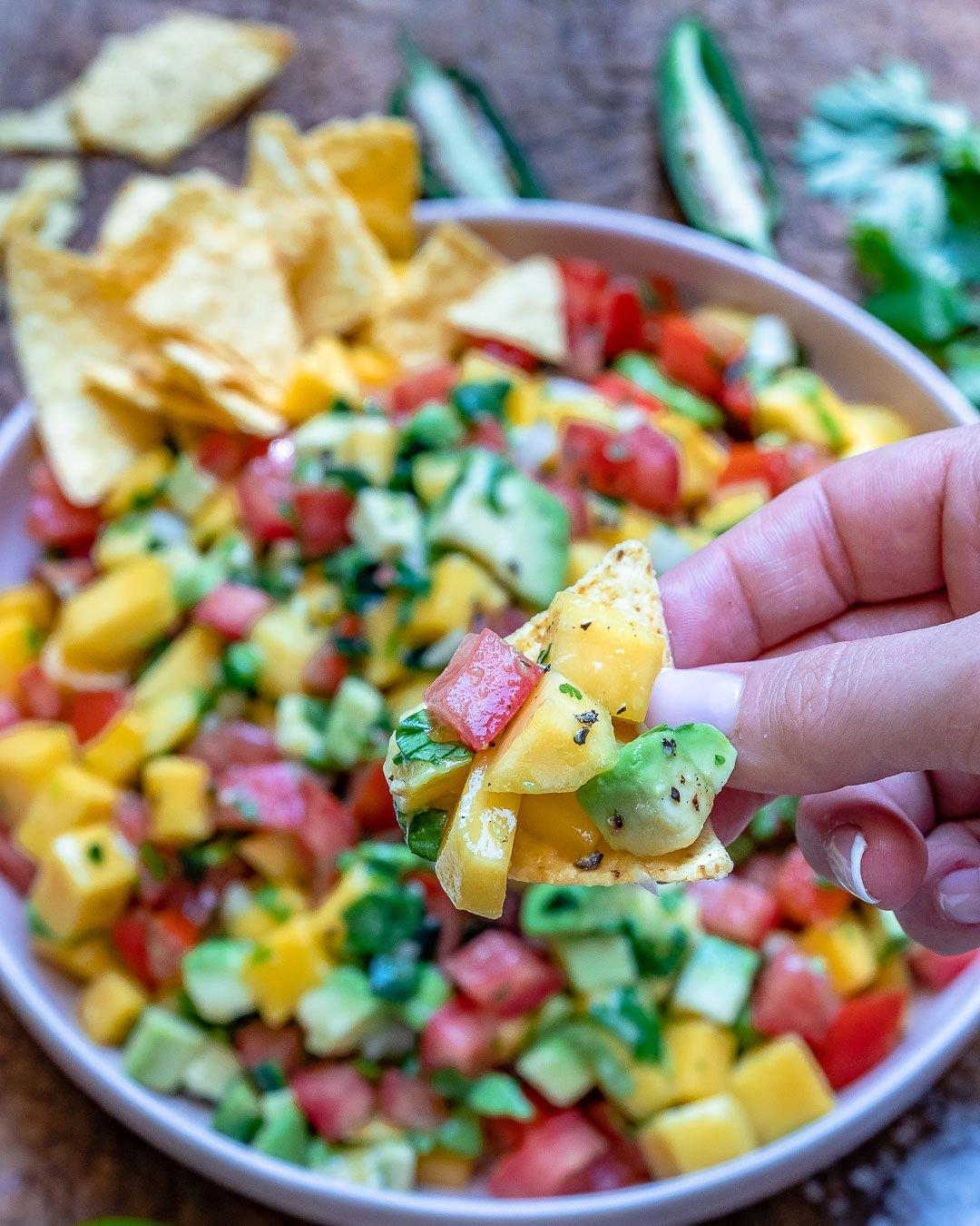 Mango And Avocado Salsa Recipe (Paleo & Whole30)-16