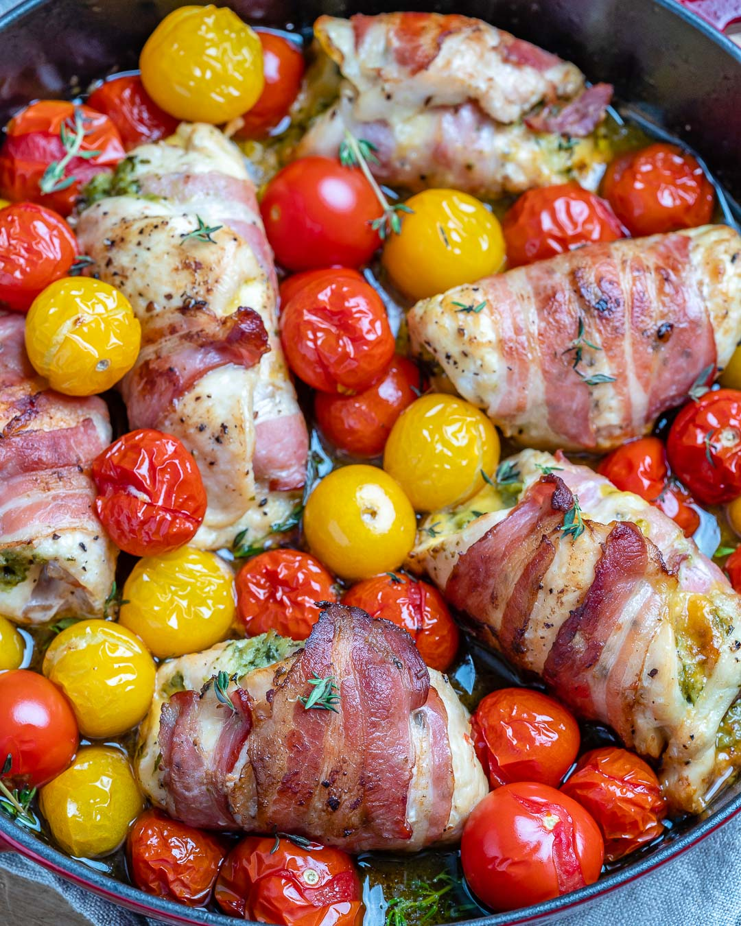 Bacon wrapped chicken roll-ups - - Easy Chicken Pesto Roll Ups Recipe-10