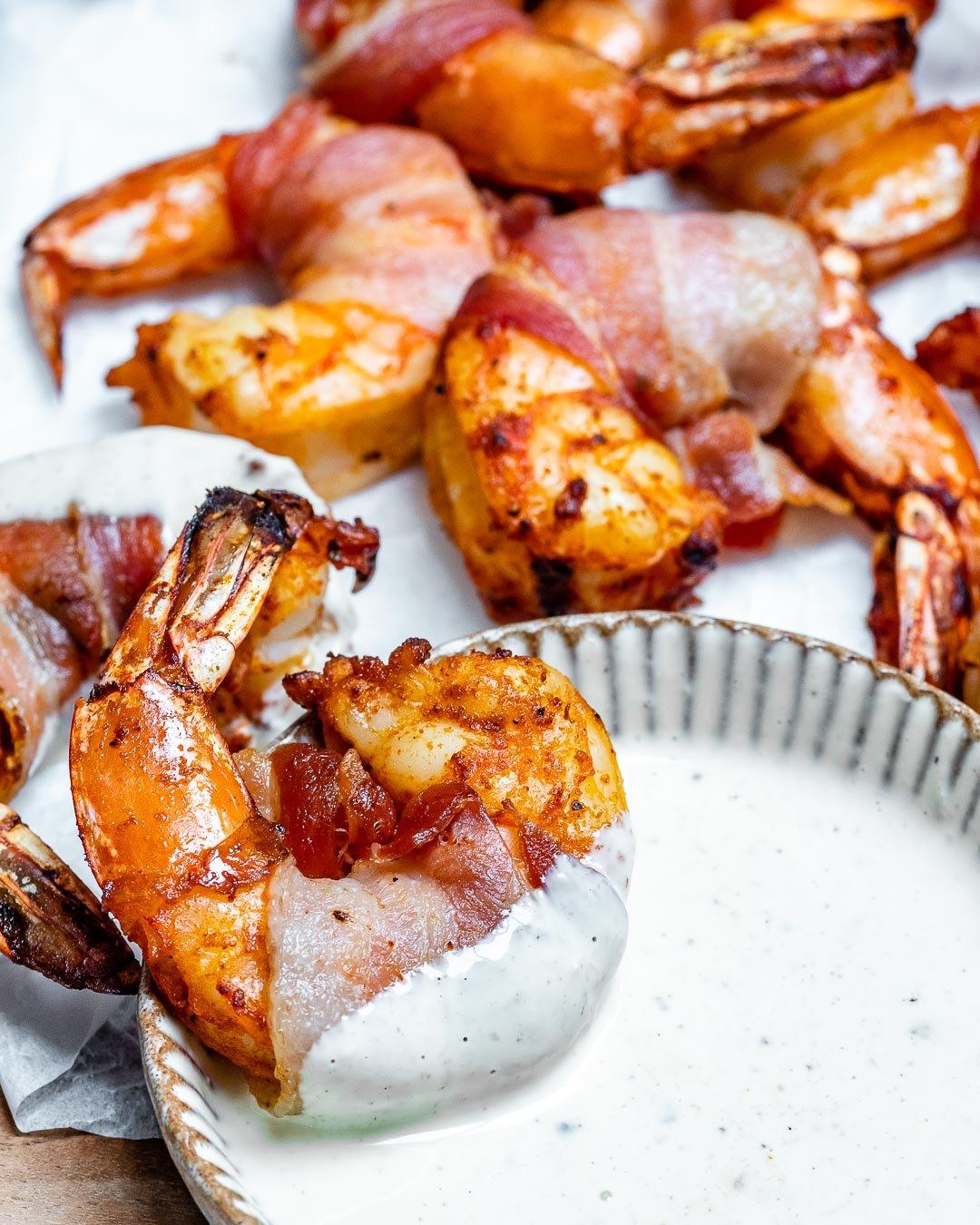 Keto Bacon Wrapped Shrimp Recipe-7