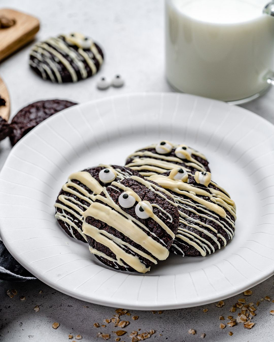 Easy Chocolate Cookies Recipe for Halloween and Christmas (Gluten Free)-14