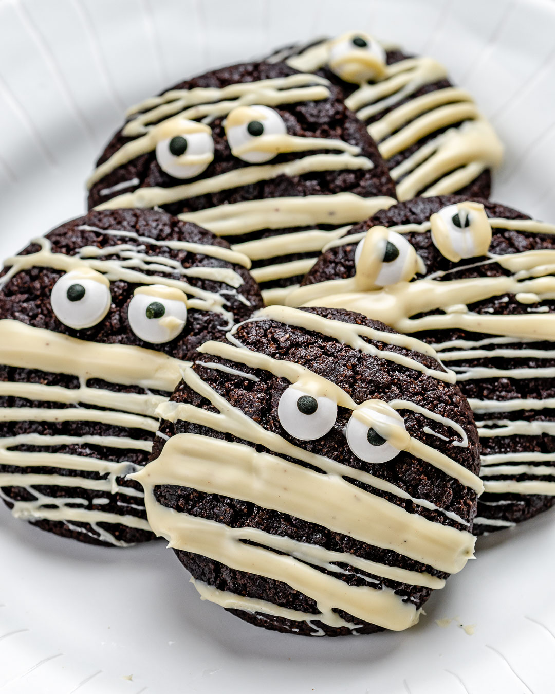 Easy Chocolate Cookies Recipe for Halloween and Christmas (Gluten Free)-17