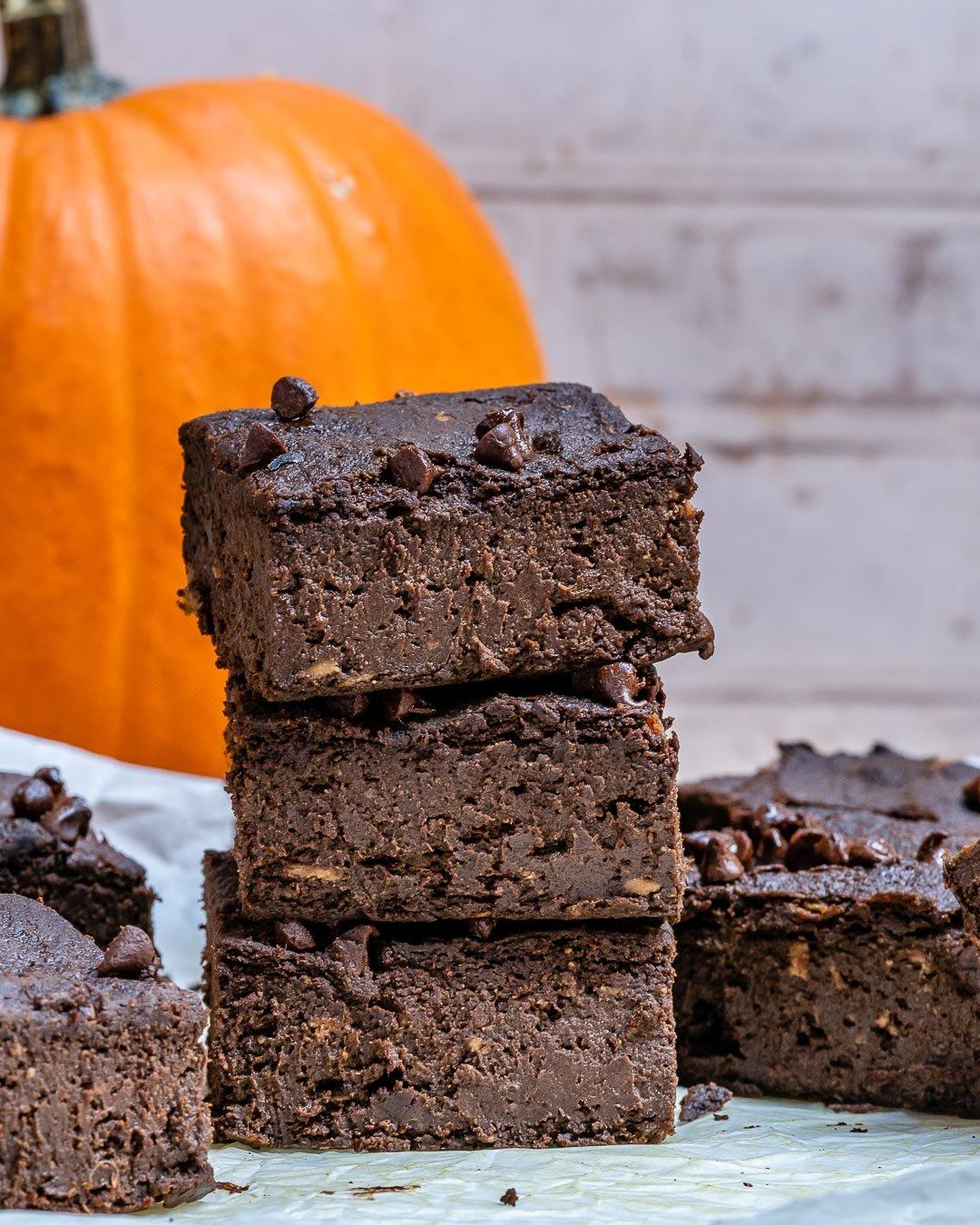 Pumpkin Chocolate Brownies Recipe (Vegan | Paleo | Gluten Free)-13
