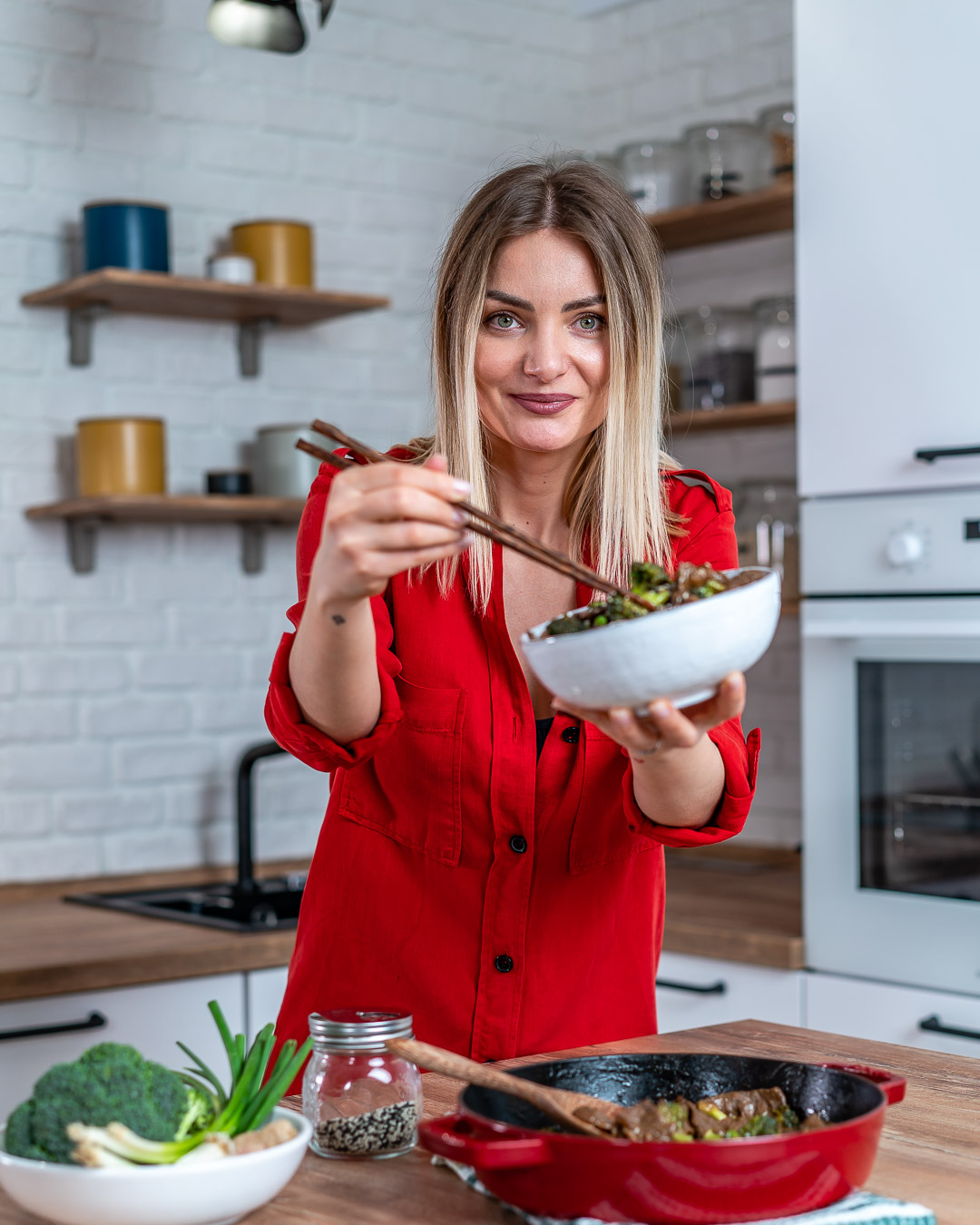 Beef And Broccoli Stir Fry (Gluten Free : Whole30 : Paleo Recipe)-16