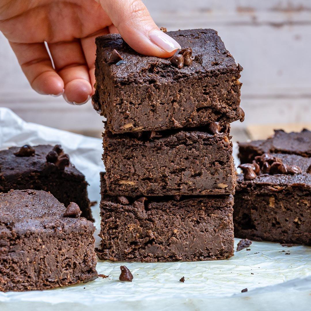Brownie cu Ciocolata si Dovleac (Negresa Americana) - Reteta Vegana | Paleo | Fara Gluten 8