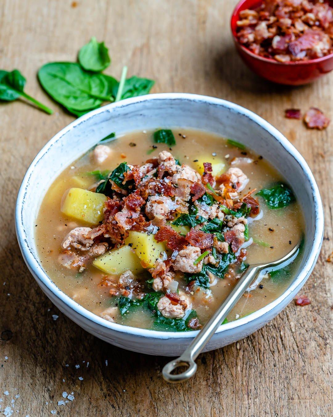 Supa Toscana De Fasole Si Curcan - Reteta Whole30 5