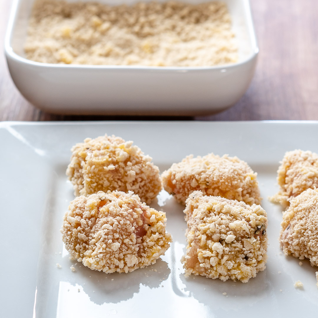 Garlic Butter Chicken Bites With Lemon Asparagus-4