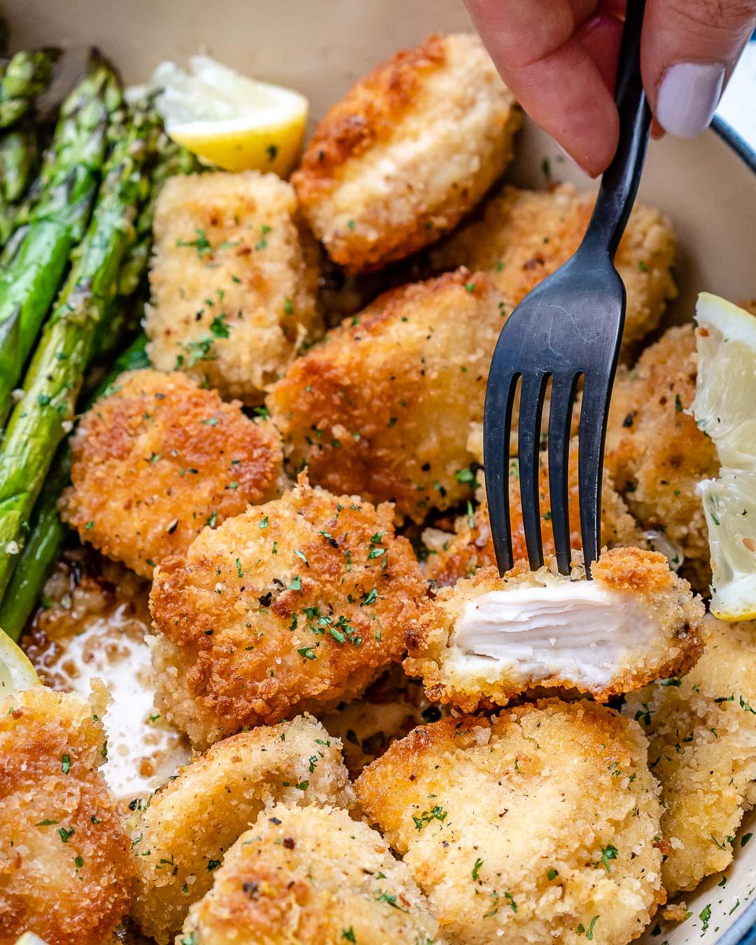 Garlic Butter Chicken Bites With Lemon Asparagus-43