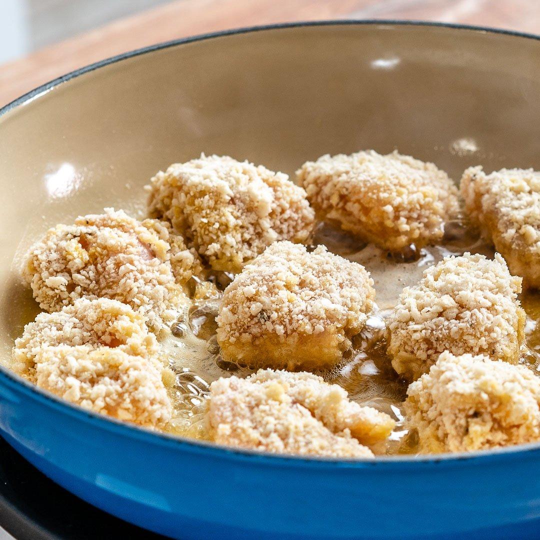 Garlic Butter Chicken Bites With Lemon Asparagus-6