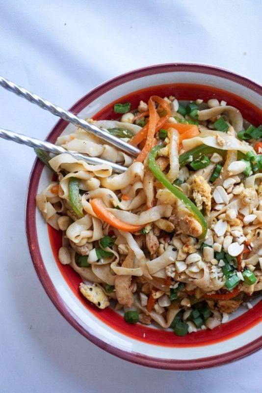 21. Keto Pad Thai - Best keto chicken recipes for dinner