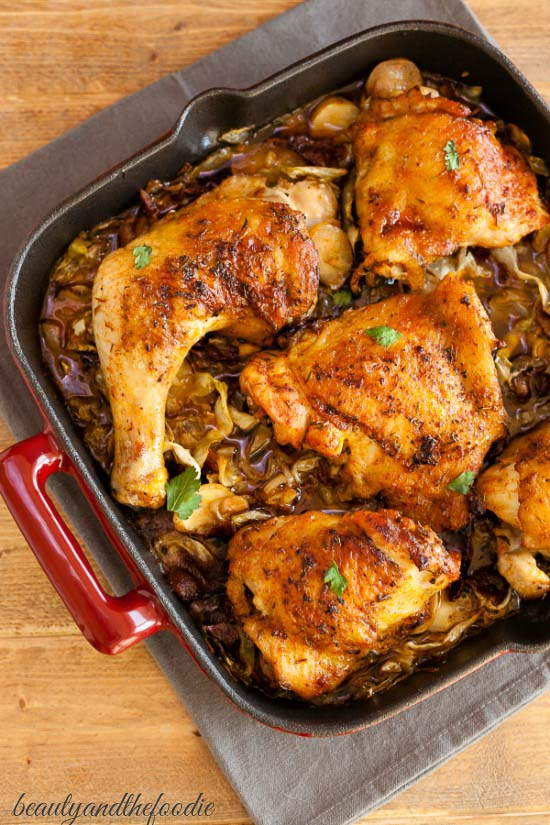Chicken-Bacon-Cabbage-Skillet-Easy Keto Chicken Recipes for dinner