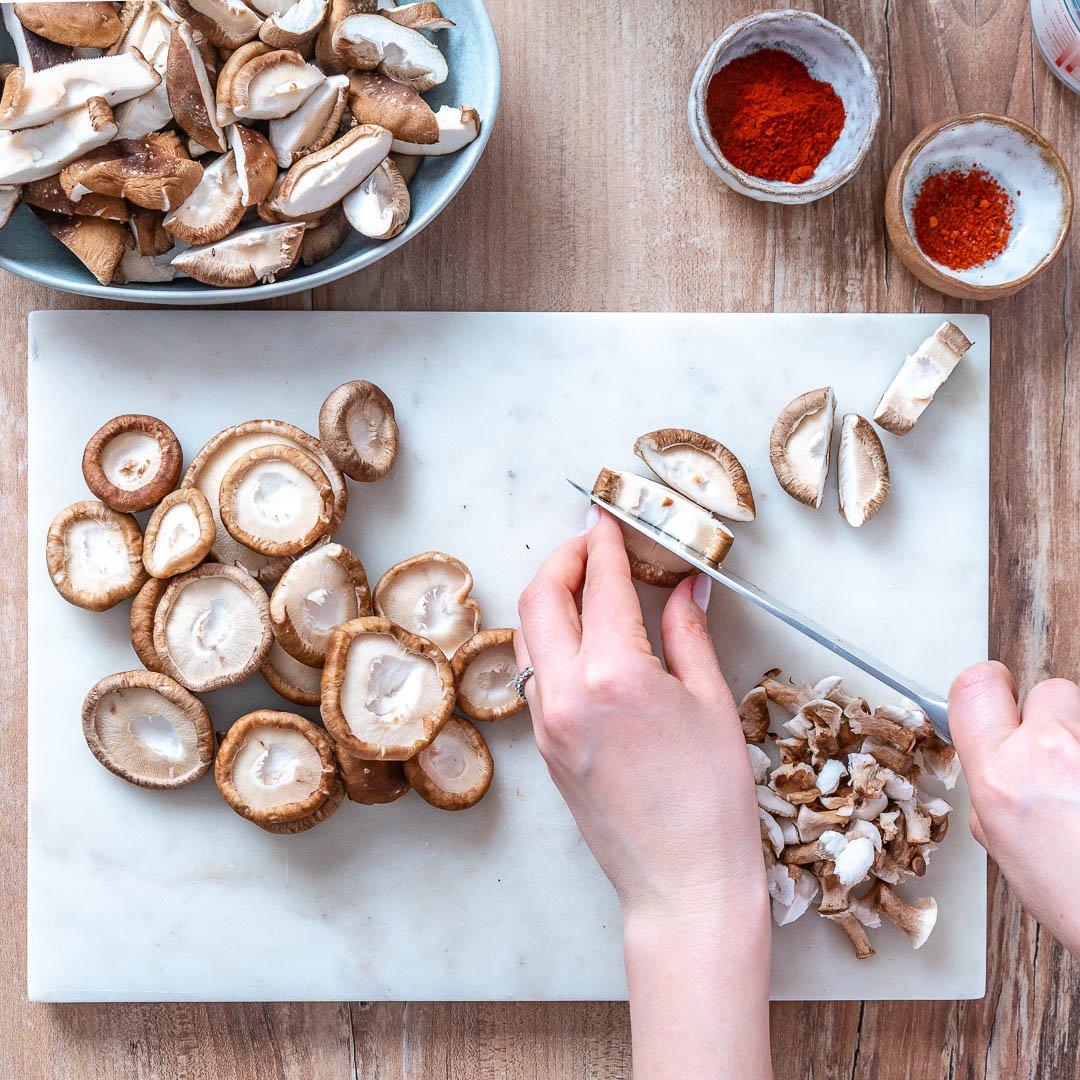 Vegan Creamy Mushroom Pasta Recipe-2 2