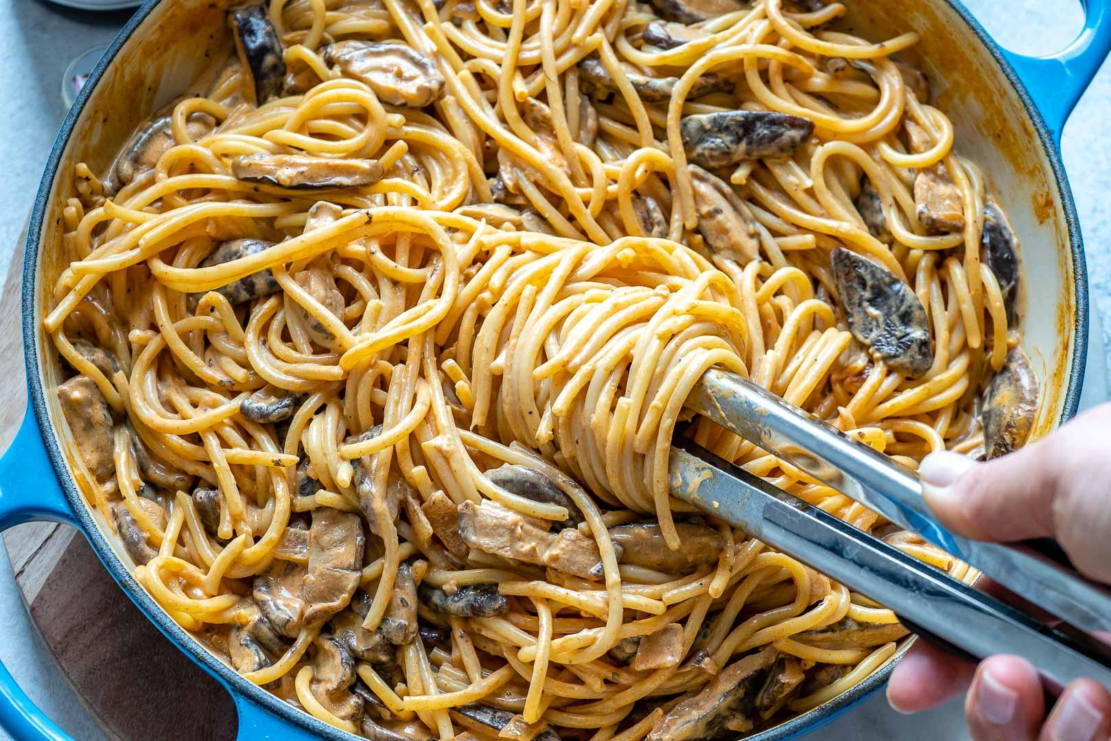 Vegan Creamy Mushroom Pasta Recipe-7