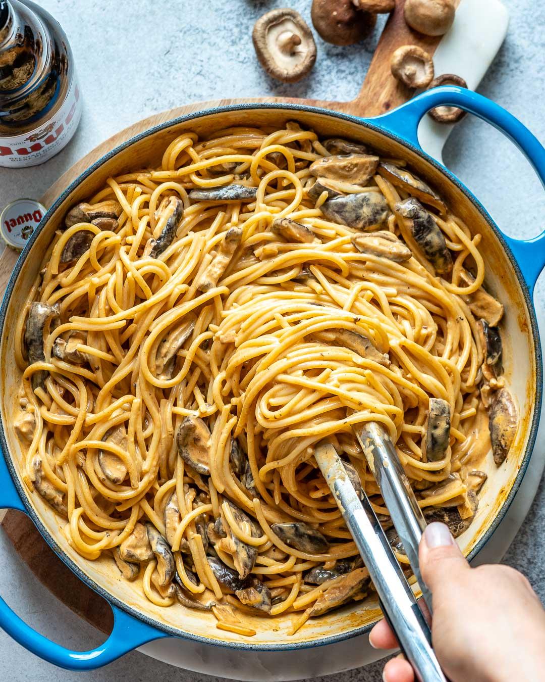 Vegan Creamy Mushroom Pasta Recipe