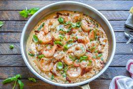 Creamy Garlic Shrimp With Parmesan – Easy Keto Recipe-16