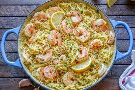 Creamy Shrimp Scampi With Angel Hair Pasta – How To Make Shrimp Scampi Pasta-15