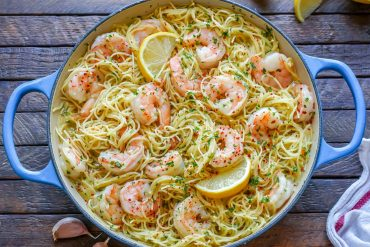 Creamy Shrimp Scampi With Angel Hair Pasta – How To Make Shrimp Scampi Pasta-15