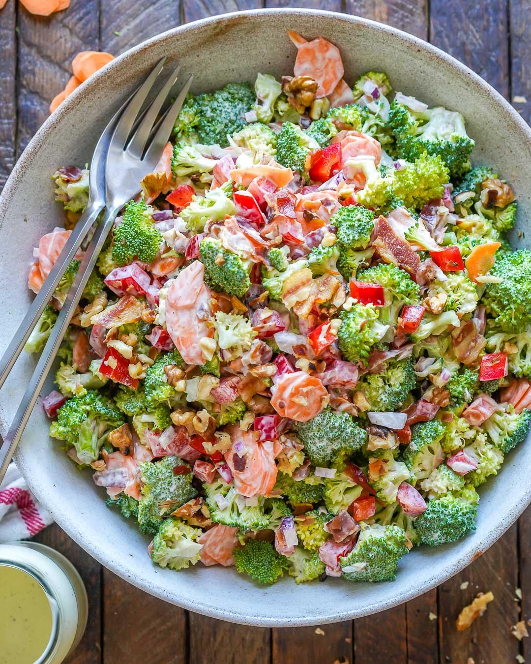 Keto Broccoli bacon salad recipe-13