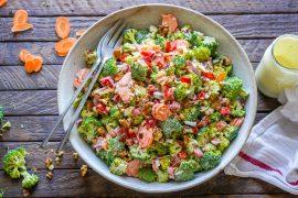Keto Broccoli bacon salad recipe-19