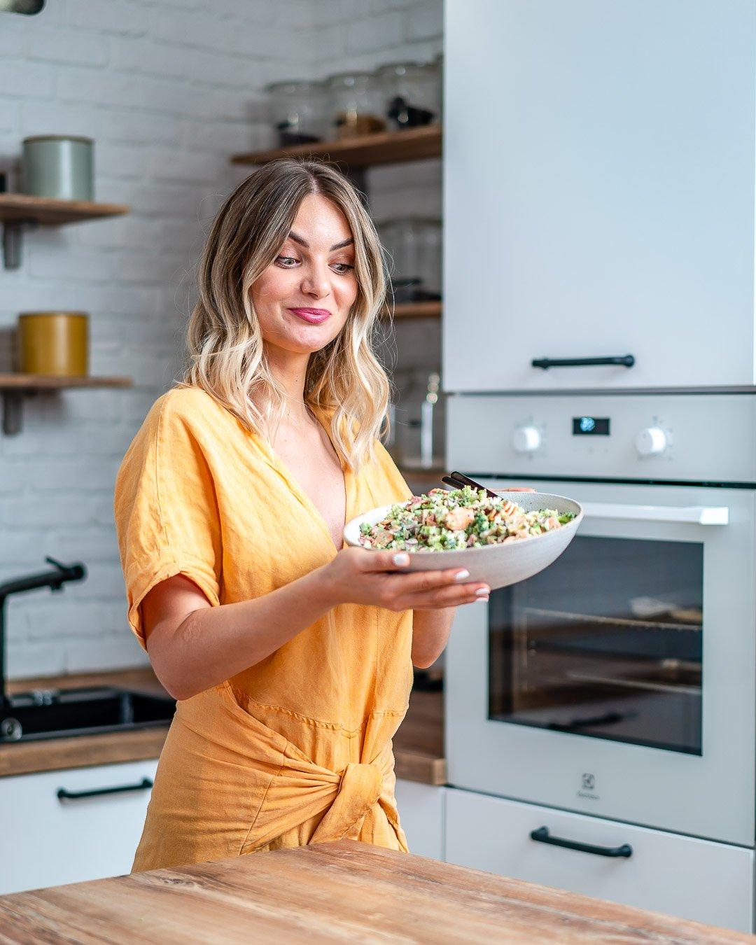 Keto Broccoli bacon salad recipe-21