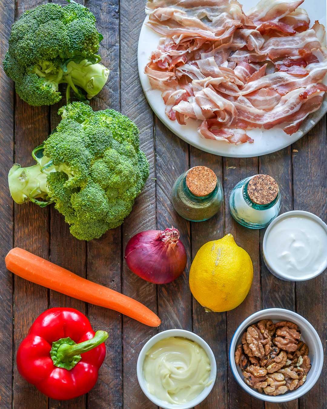 Keto Broccoli bacon salad recipe-3