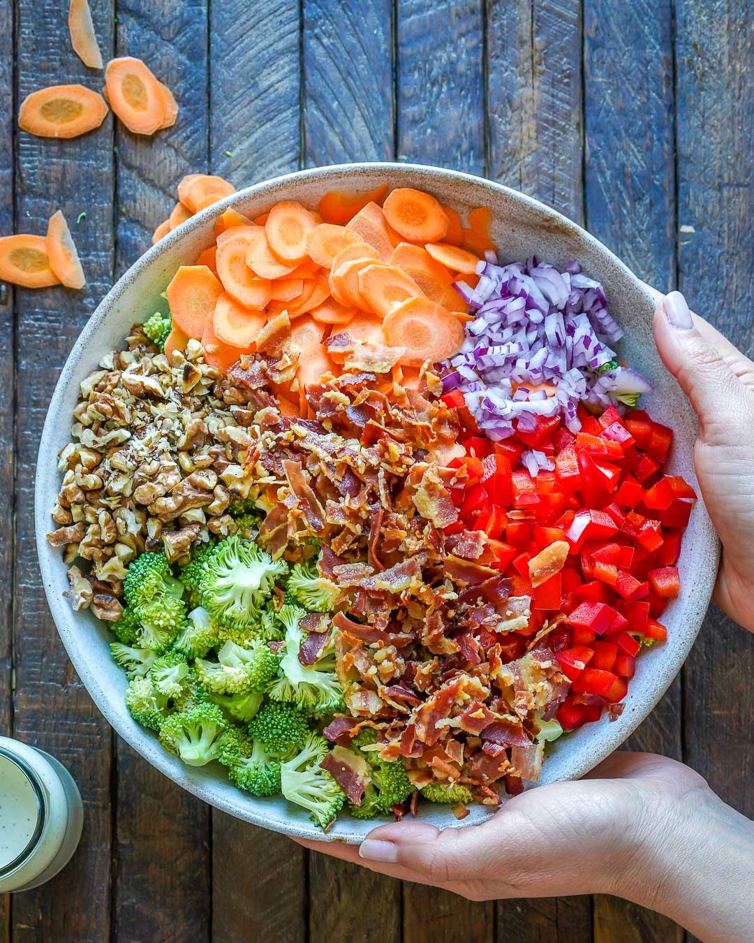 Keto Broccoli bacon salad recipe-7