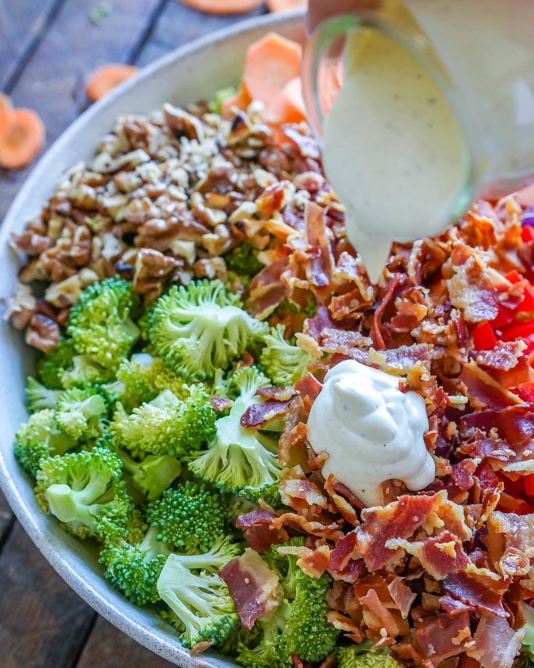 Keto Broccoli bacon salad recipe-8