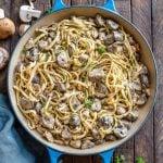 Creamy Chicken Mushroom Pasta With Alfredo Sauce - Recipe Video-20