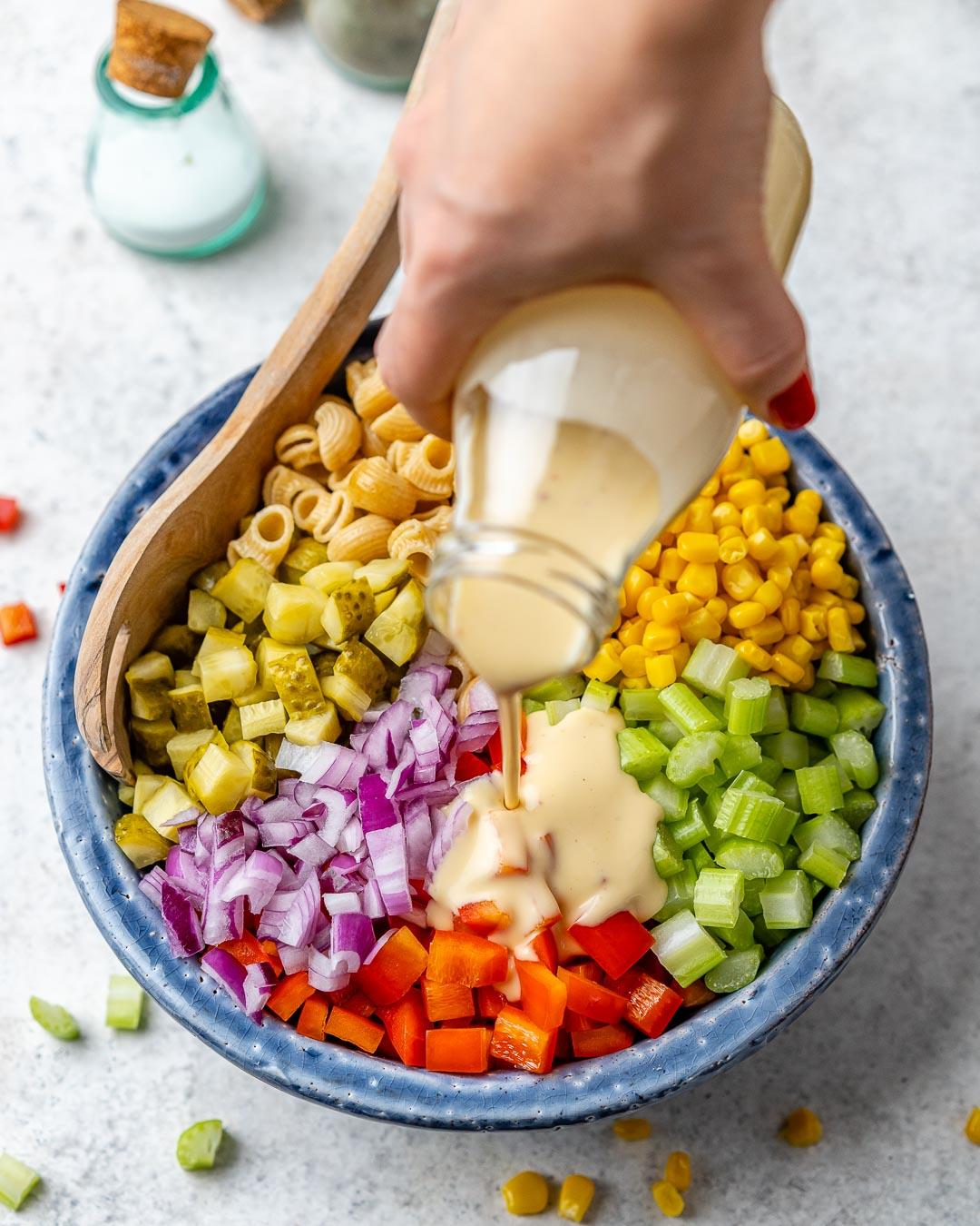 Easy Macaroni Salad Recipe – How To Make Vegan Macaroni Salad - 16