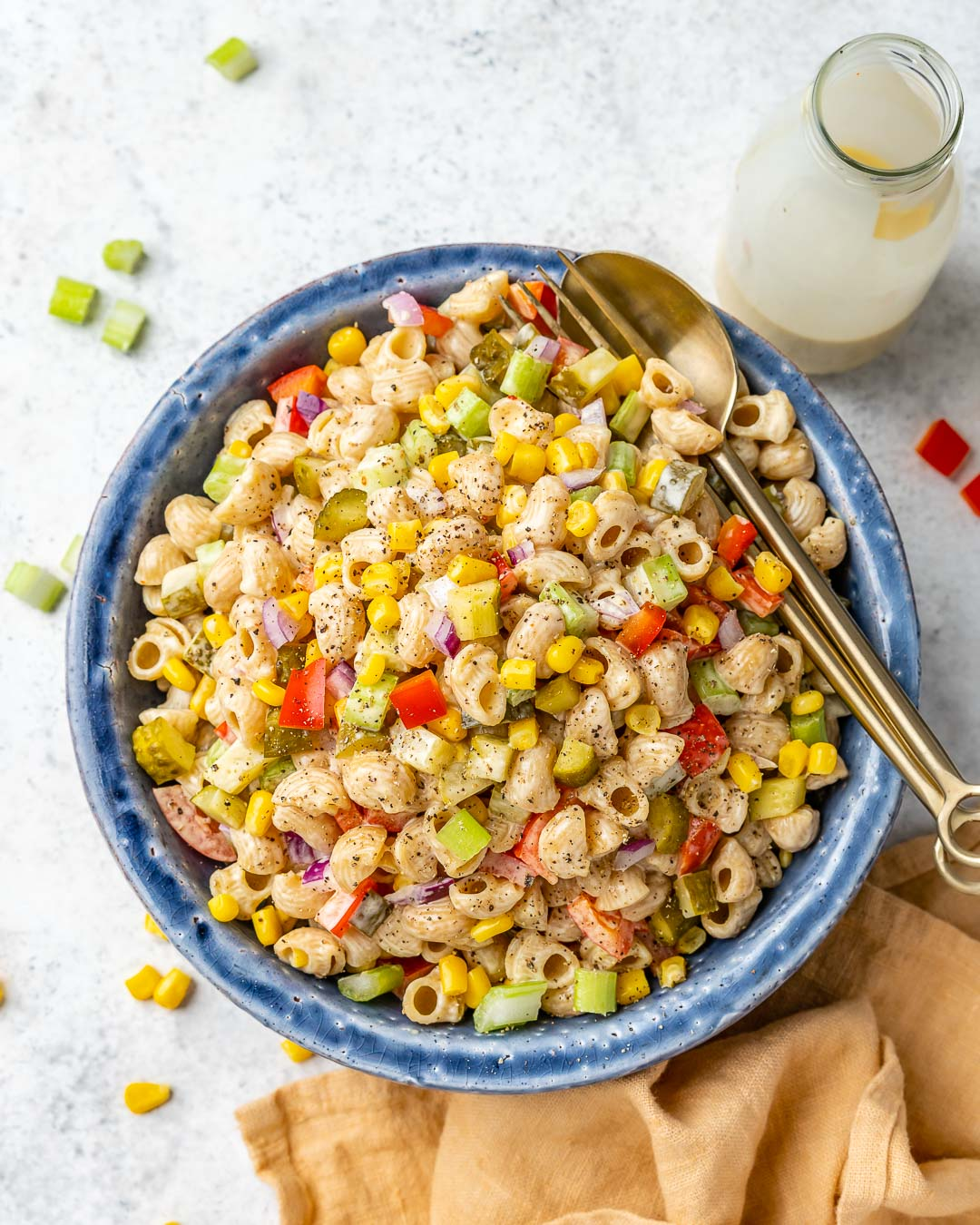Easy Macaroni Salad Recipe – How To Make Vegan Macaroni Salad - 19