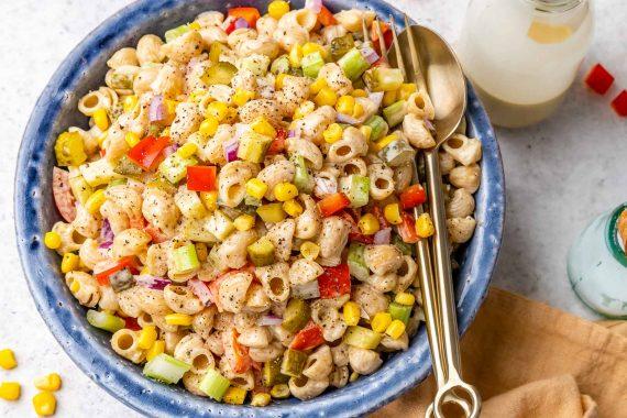 Easy Macaroni Salad Recipe – How To Make Vegan Macaroni Salad - 21
