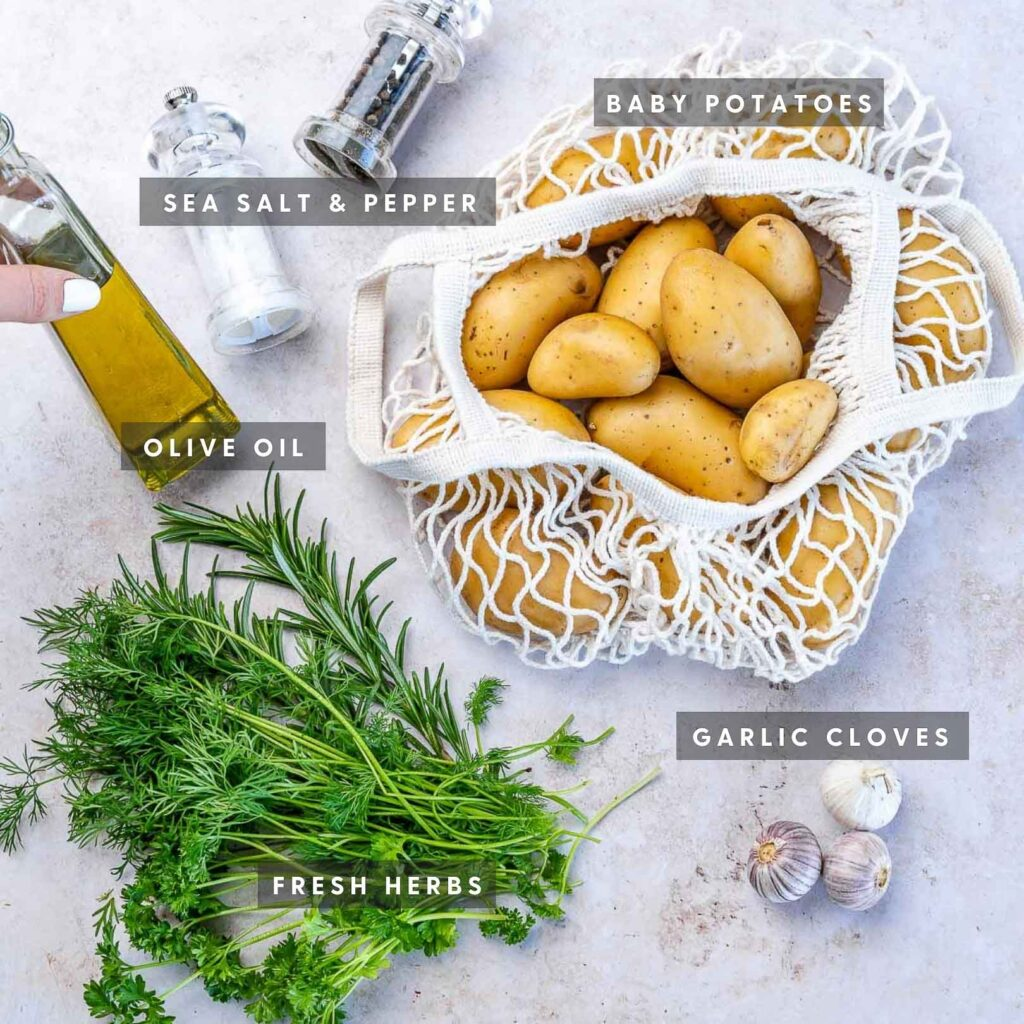 ingredients for this skillet fried potatoes recipe