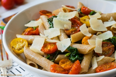 Spinach & cherry tomatoes pasta-12