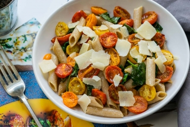 Spinach & cherry tomatoes pasta-5